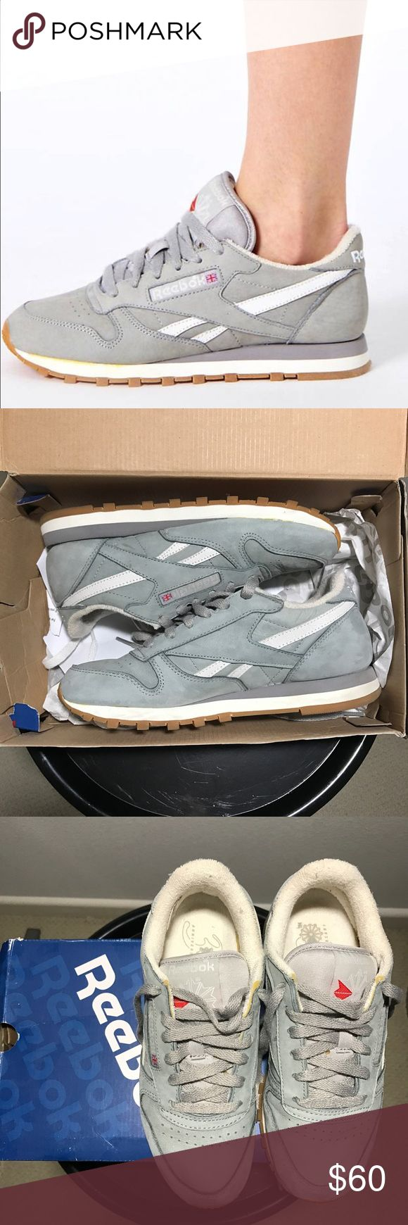 Used Reebok Classic Vintage Grey Trainers Used Reebok Classic Vintage Grey Trainers  DETAILS Brand: Reebok Size: UK 3 (US 5 Women) Color: Grey Condition: Great! Barely worn. Will ship with box.   *No trades please* Reebok Shoes Sneakers