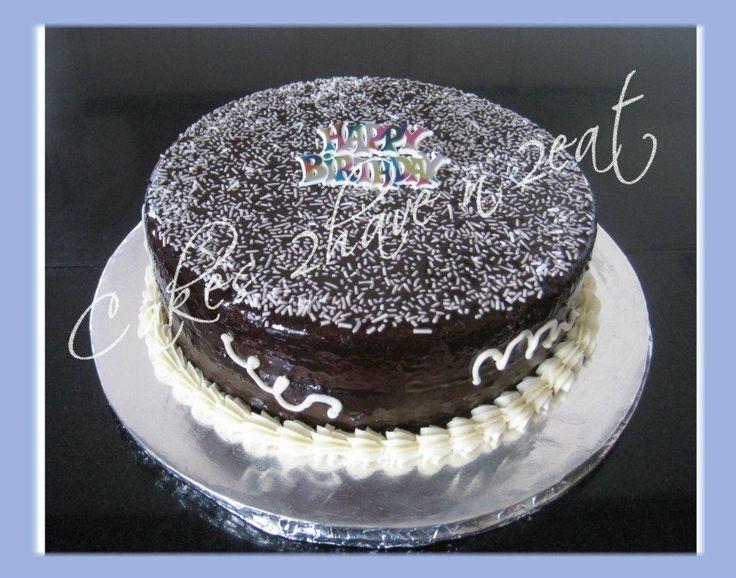 CHOCOLATE LOVERS CAKE - CHOCOLATE FUDGE WITH CHOCOLATE GANACHE