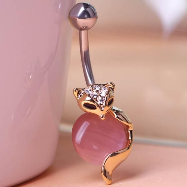 Cat Eye Piercing (Belly Button Ring) Fine or Fashion: FashionItem Type: Body JewelryStyle: TrendyBody Jewelry Type: Navel & Bell Button RingsMaterial: Rhine