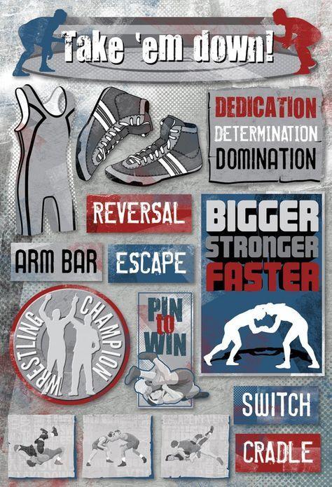wrestling scrapbook layouts | Home / Take 'Em Down