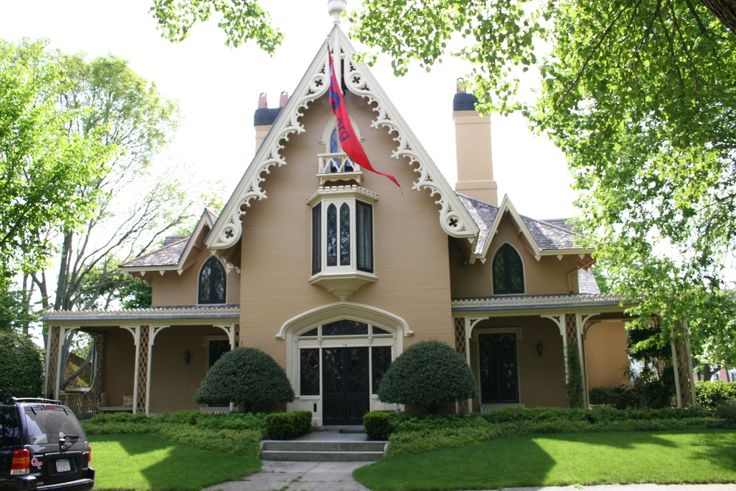 Gothic Revival in New Bedford, MA, William J. Rotch House, c. 1844