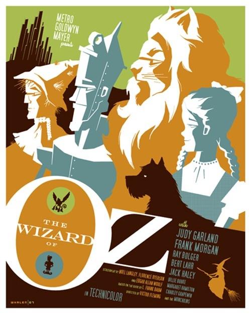 Wizard of Oz art: Movie Posters, Tom Whalen, Oz Poster, Wizardofoz, Illustration, Art, Wizards, Dr. Oz, Wizard Of Oz