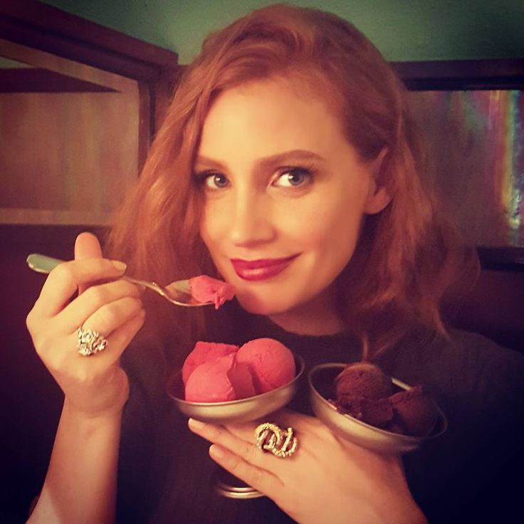 """Jessica Chastain on Instagram: """"You cant buy #happiness but you can buy sorbet #yesican"""""""