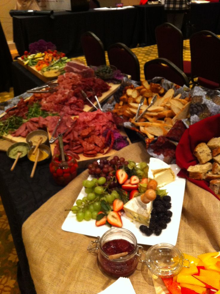 Hamilton Media Guild food spread