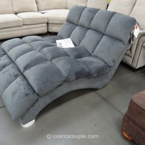 S-Shaped Chaise  Double-Chaise-lounge-indoor-Fabric-Costco-on-grey-ceramic-living-room-flooring-decor