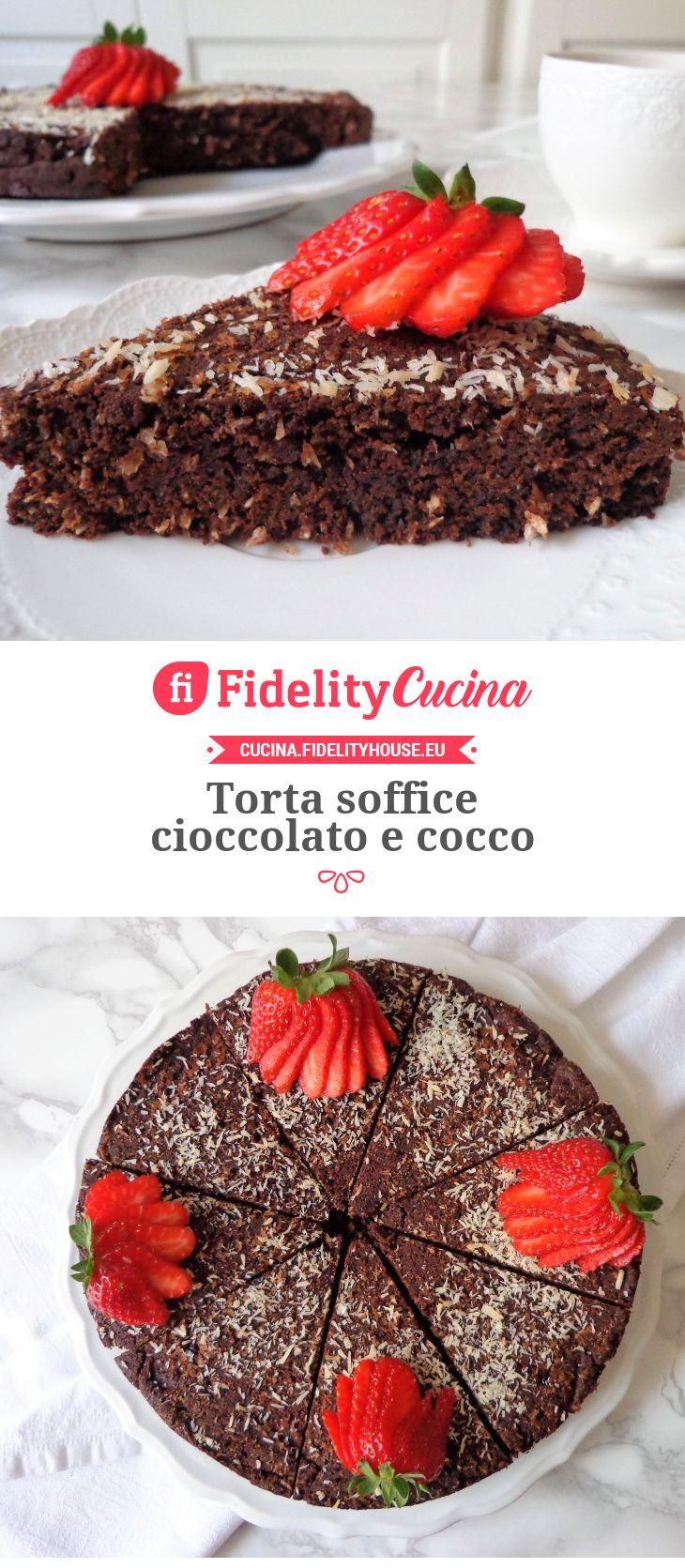 Torta soffice cioccolato e cocco