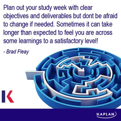 Study tip - Plan your attack.