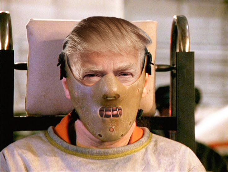 There are plenty of critics who would want to muzzle Mr Trump - Hannibal Lecter style