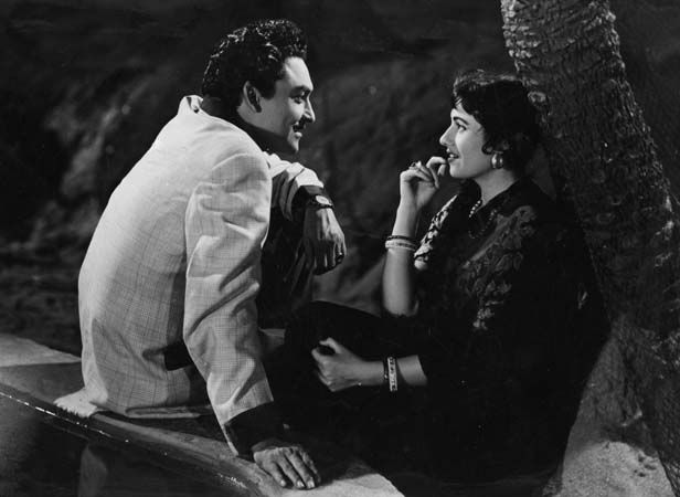 Madhubala and Ashok Kumar