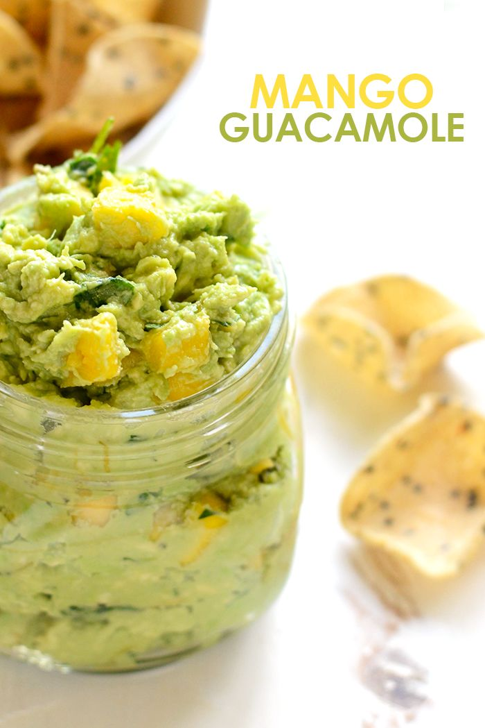 Mango Guacamole - Get tropical with your classic guacamole recipe and add in some fresh mango. Serve with your favorite tortilla chip and you've got yourself the best snack ever!