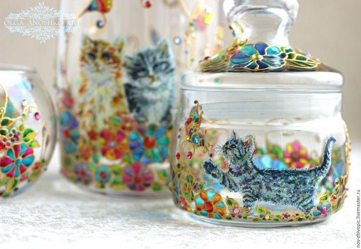 """Купить Подарочный набор """"Мечта Хозяйки"""" с котиками. - посуда, подарок, подарок девушке"""
