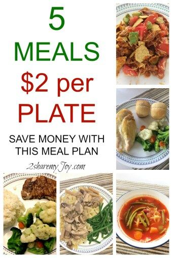 High grocery bill and struggling with meal planning? I spend only $2 a plate with these 5 dinner recipes. Great meal plan to save money on groceries and save time and sanity cooking. Click trough to learn a budget and family friendly meal plan and save time.