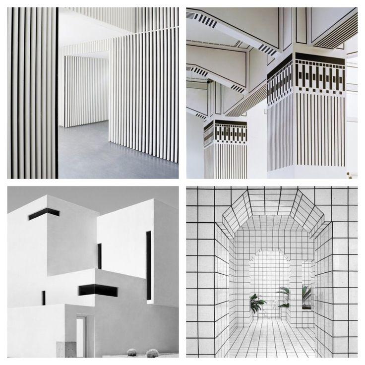 Mood minimale white black architecture graphic for Architecture minimale