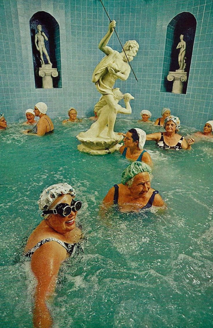 imperfect, impermanent and incomplete — Bathers at the European Health Spa, from National...
