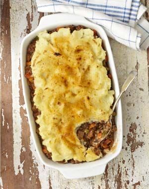 """Gluten Free Shepherd's Pie from """"Allergy-Free and Easy Cooking"""" by Cybele Pascal, published by Ten Speed Press, releasing Dec. 4, 2012. Find recipe at: http://glutenfreerecipebox.com/gluten-free-shepherds-pie ©"""