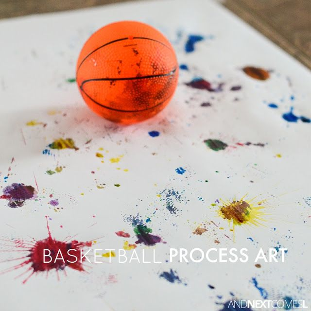 March Madness Inspired Basketball Process Art