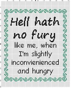 Hell Hath No Fury like me when I'm Slightly