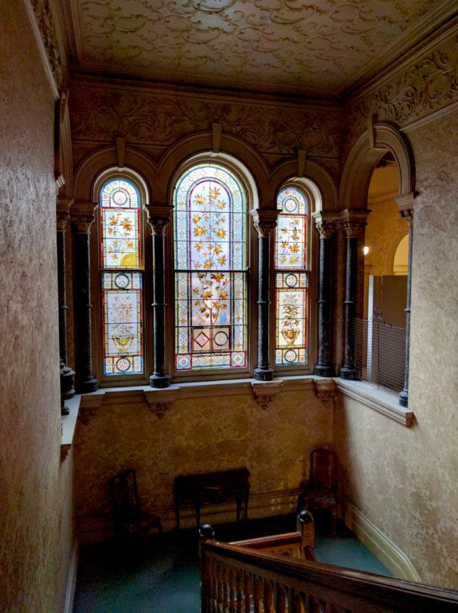 Stain glass window at the Rippon Lea House and Gardens, Melbourne ~Hexotica