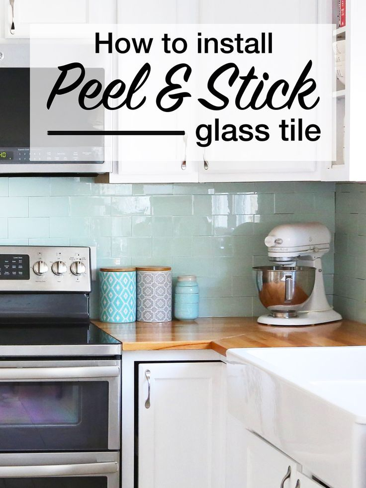 Installing Peel And Stick Glass Tiles Kitchen Tiles Kitchen