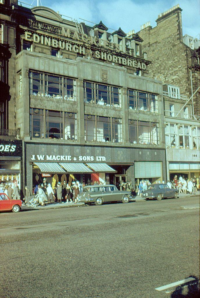 J W Mackie S Shop And Tea Room Princes Street 1961 Edinburgh