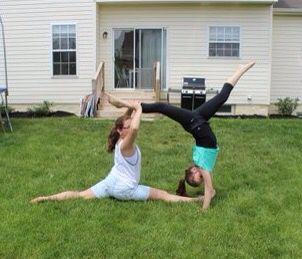 2 person acro stunt(with my bestie)