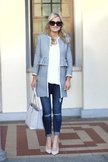 Get this look: http://lb.nu/look/8622777  More looks by Martina Reynolds: http://lb.nu/martinasmark  Items in this look:  Zara Frock Coat, Primark Skinny Jeans   #casual