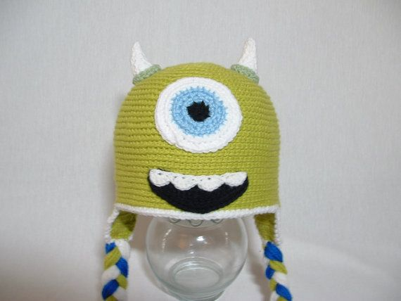 Monster Earflap Hat inspired by Mike from Monsters Inc READY TO SHIP ( 2- 3 years). $20.00, via Etsy.