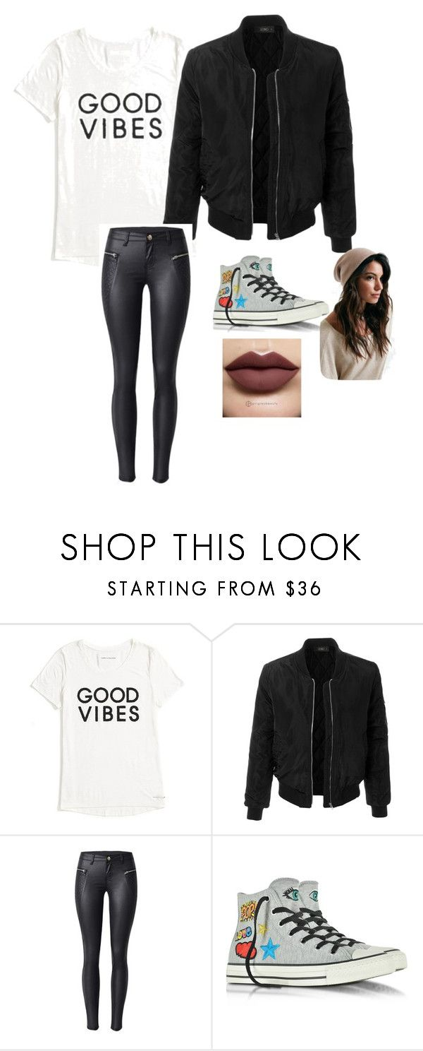 """Untitled #31"" by moriartylauren on Polyvore featuring Tommy Hilfiger, LE3NO and Converse"
