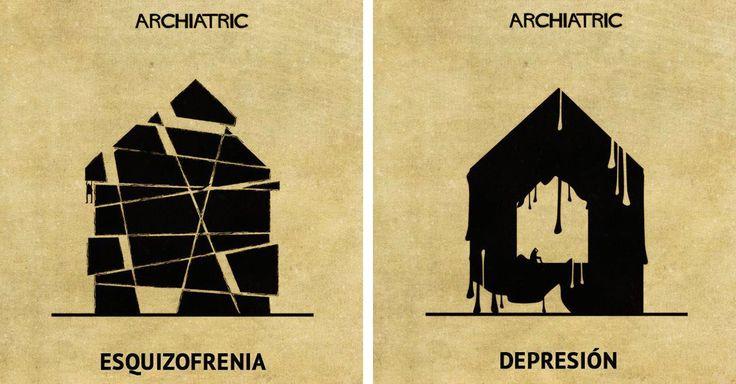 Un artista, ilustrador y arquitecto ejemplifica los trastornos psicológicos más comunes por medio de diseños de casas.