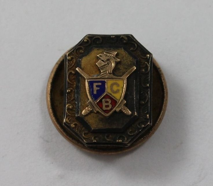 Vintage Bronze Family Crest with Knight Button Pin Back  | eBay