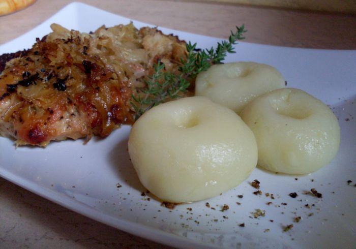 Pork roast in the oven ... good Polish dinner