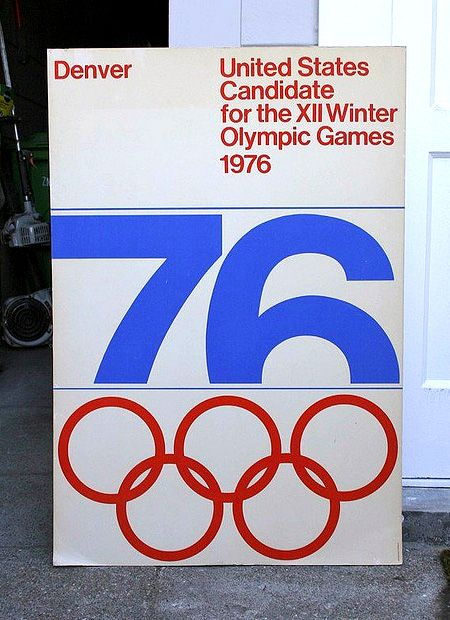 Vignelli, 1976 Denver Winter Olympics PosterDesign Inspiration, Winter Olympics Games, Picture-Black Posters, Massimo Vignelli, 1976, Denver, Graphics Design, Vintage Design, Typography