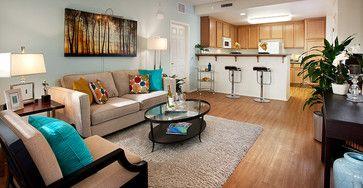 Ralston Courtyard Apartment Model - contemporary - living room - other metro - Borden Interiors & Associates