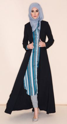 cardigan muslim dress.open style--shanel fashion whatsapp:+86 13537825375