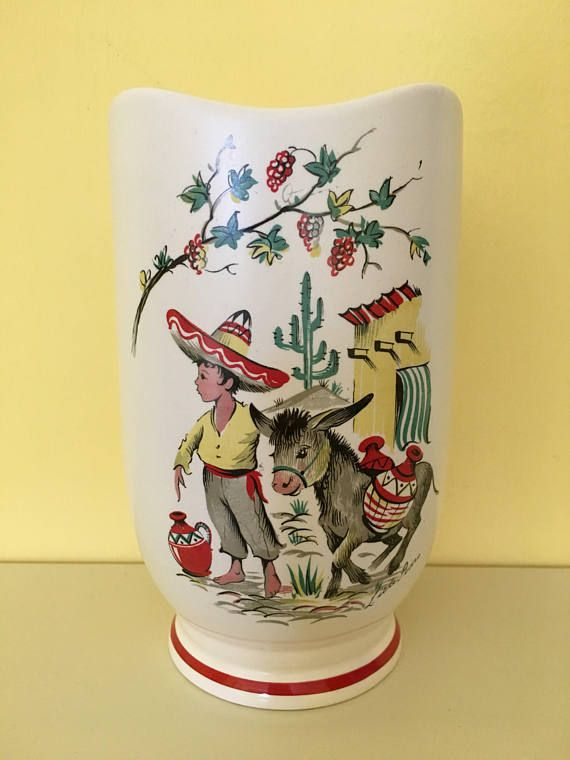 Kitsch 1950s 'Little Pedro' vase by Crown Ducal