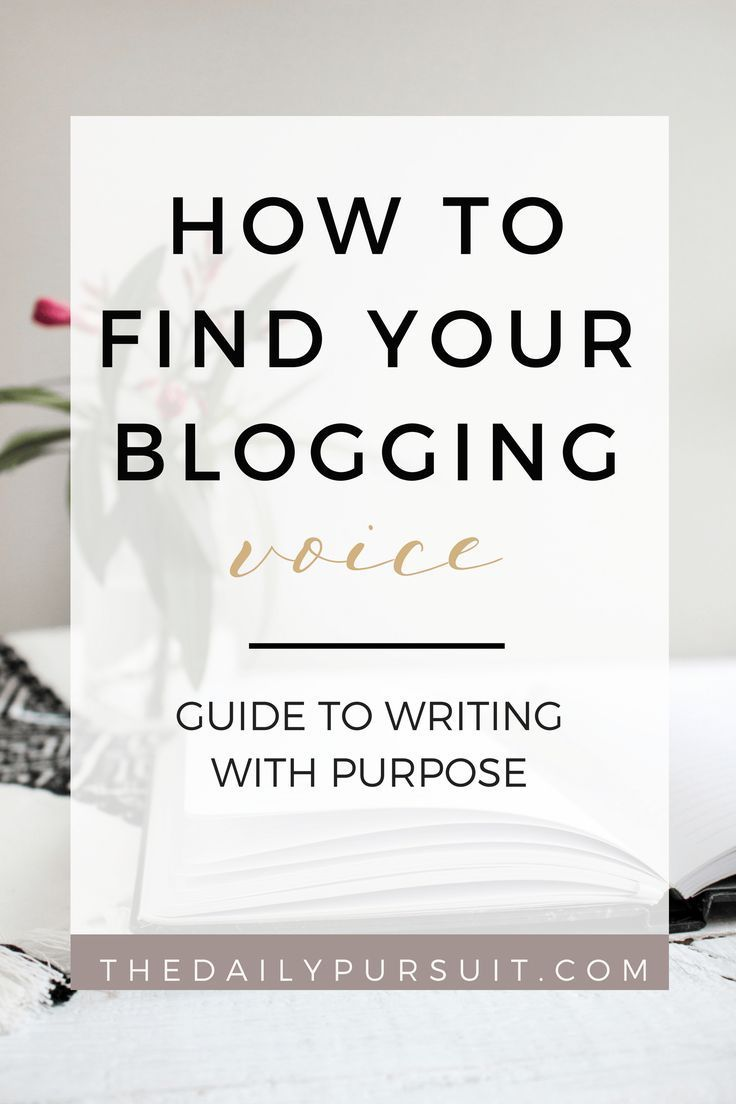 How to Find Your #Blogging Voice and Write with Purpose! // The Daily Pursuit