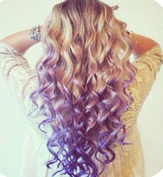 Blonde Hair with Purple Tips   Purple tips with blonde!   Hair, MakeUp & Beauty