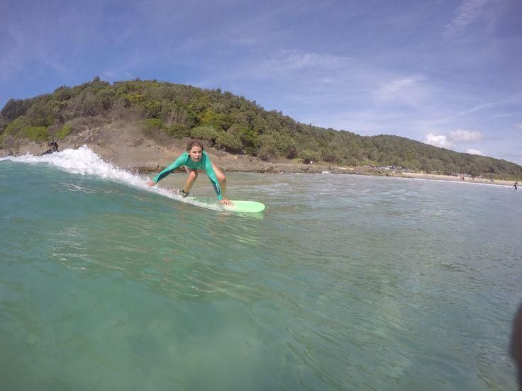 my friend nina surfing in crescent head @ninakorgul