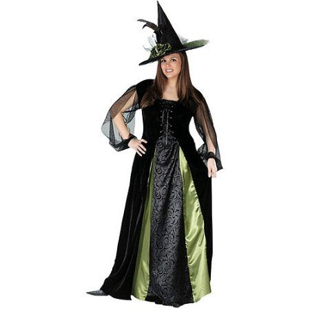 Goth Maiden Witch Plus Size Adult Halloween Costume, Women's, Size: 1X/2X, Multicolor