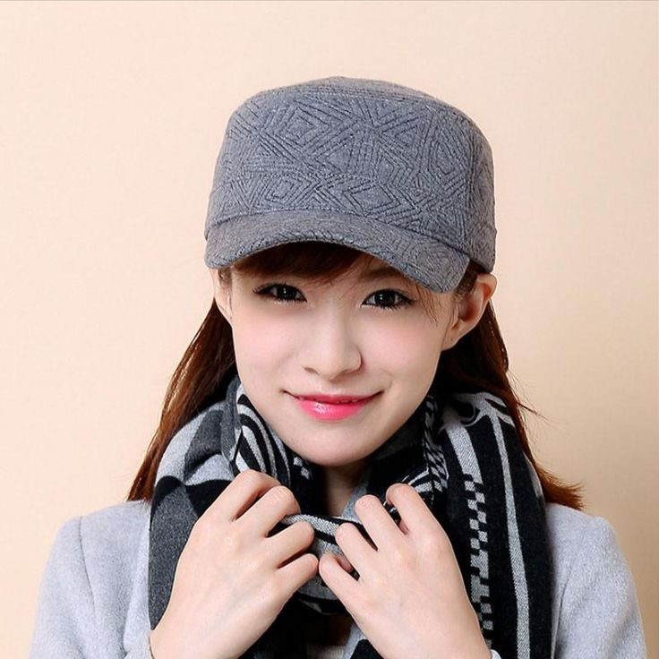 [AETRENDS] 2016 New Winter Outdoor Sport Flat Hats for Women 100% Cotton Baseball Cap Z-3894