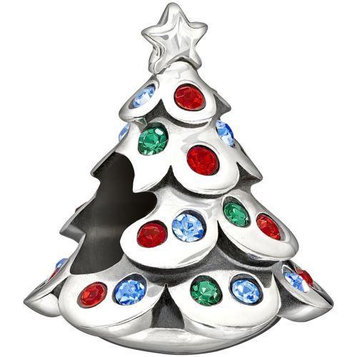 New Authentic Chamilia Christmas Tree Swarovski Charm Bead 2025-1000