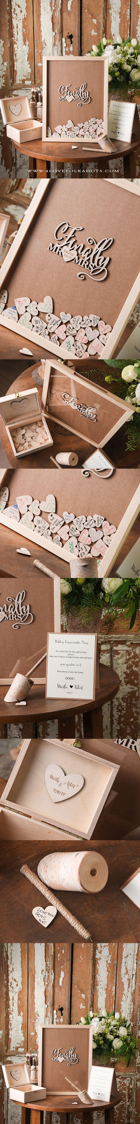 Finally Mr & Mrs ! Alternative Wedding Guest Book Frame  ||  4lovepokladots