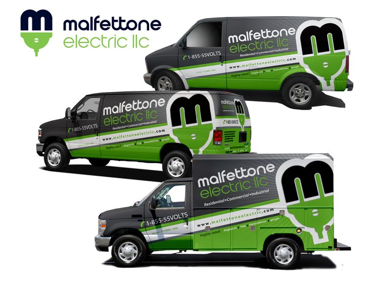 Electrical Contractor Vehicle Wrap Designs