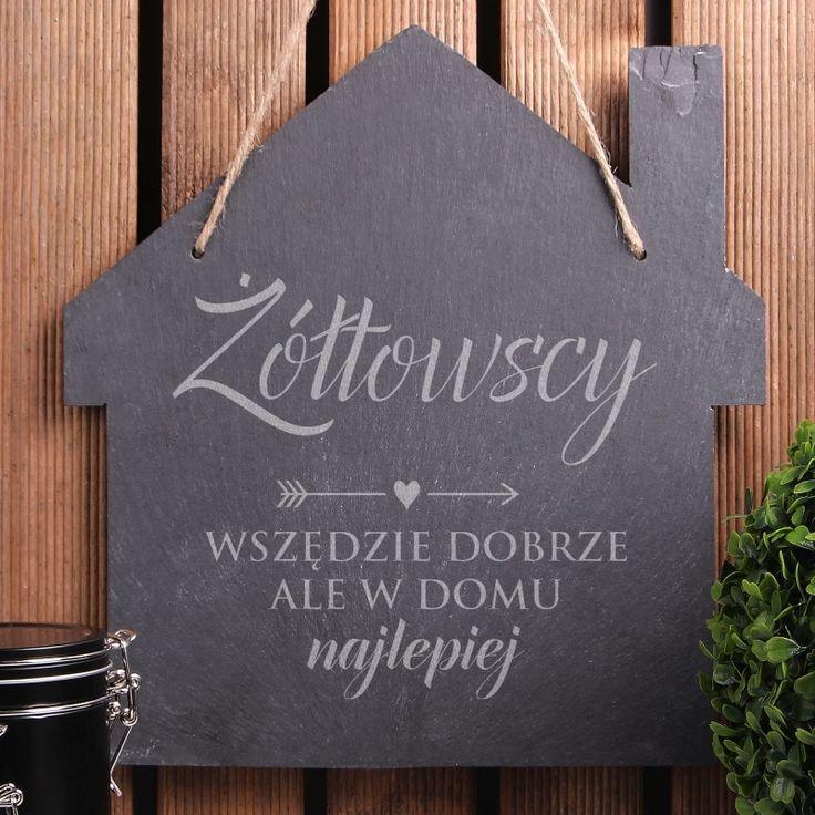 Personalizowana tabliczka kamienna WSZĘDZIE DOBRZE
