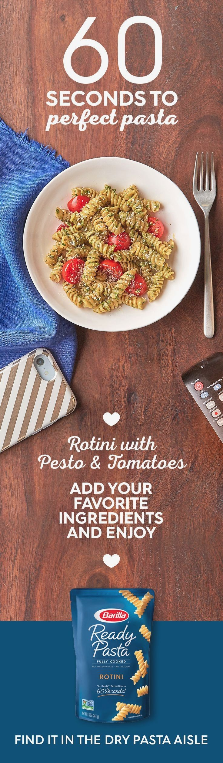 Looking for a quick meal that you can prep during your next commercial break? Save this recipe for an easy #pasta dish, made with tasty pesto and fresh tomatoes. #ReadyPasta #Barilla  Colombia Recipes  सूचना के लिए हमारी साइट पर पहुंचें   https://storelatina.com/colombia/recipes  #kolon