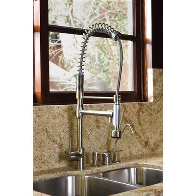 Kingston Brass Concord Single Handle Pull-Down Kitchen Faucet Wayfair $449.99