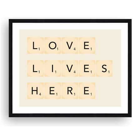 Love Lives Here Framed Picture
