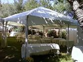 Crossland's Party World- Tent Rental 10X10 tent, setup not included, $90  15x15, setup included, $195