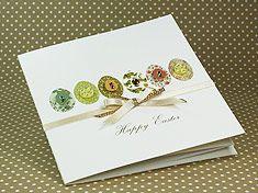"""Handmade Easter Card """"Eggs Parade"""""""