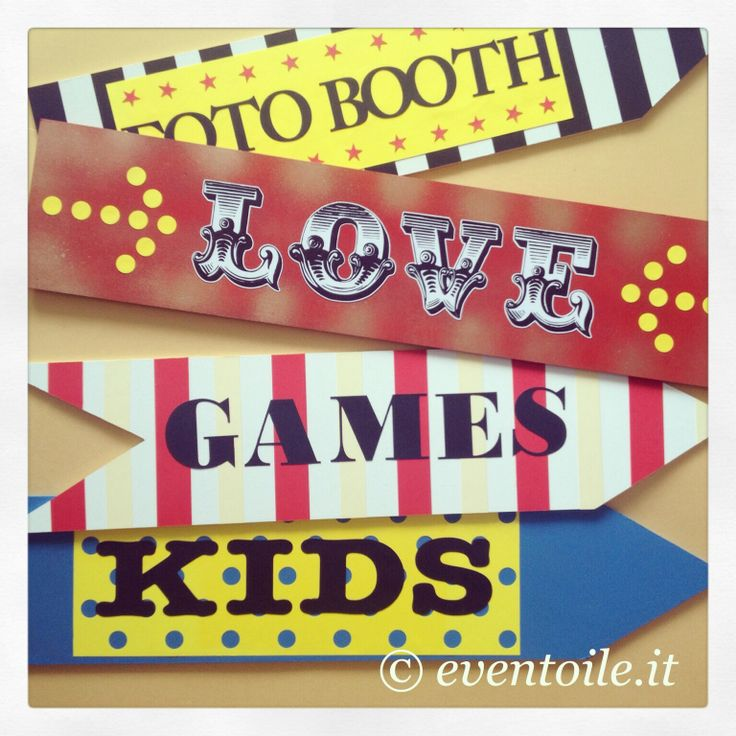 ☆Circus Wedding☆ Carnival and Circus wedding theme! Matrimonio tutto in tema Circo! #fotobooth #love #games #kids